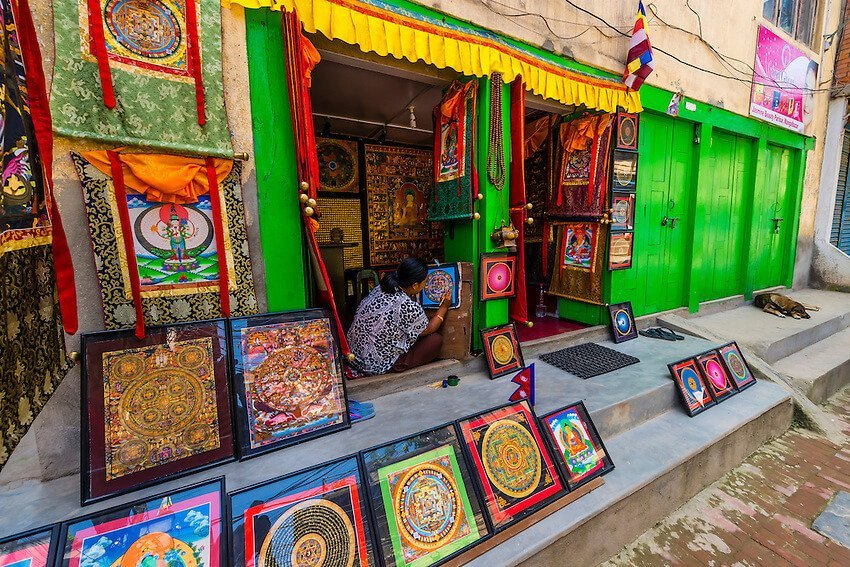 mandala shop in Nepal