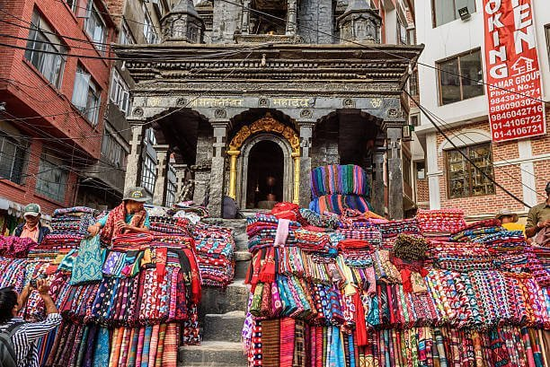 Street shop in Thamel, Nepal