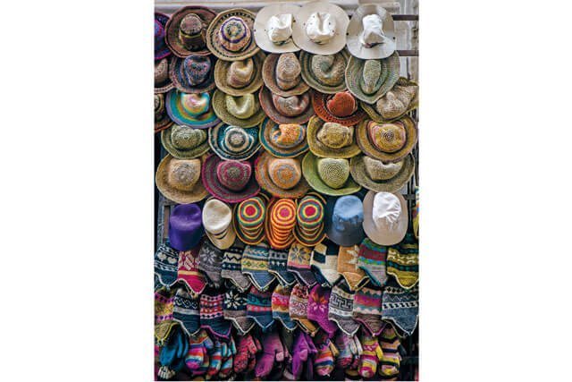 Varieties of hats in Thamel, Nepal