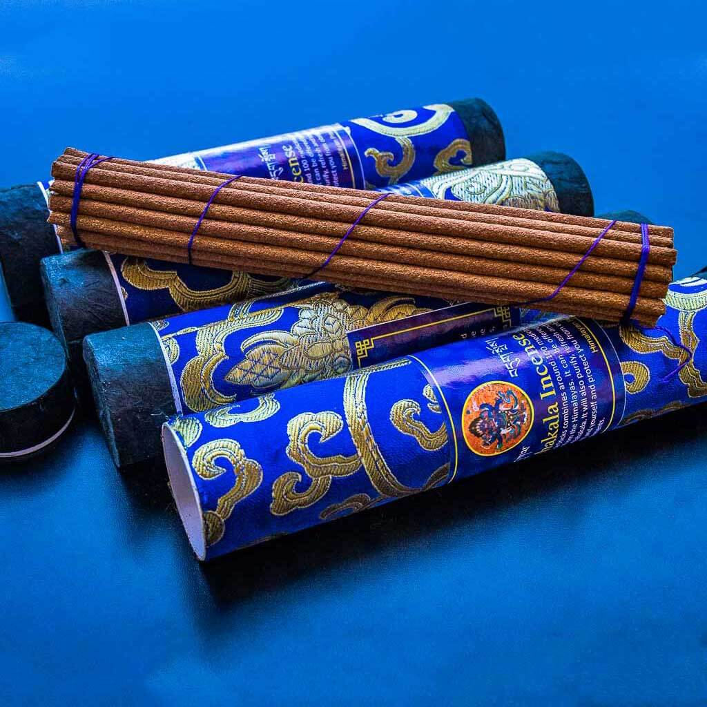 Protective Mahakala Incense - organic incense - non toxic incense -non-addictive -handmade incense - eco friendly incense - himalayan incense - incense made from herbs - incense for meditation - incense for healing