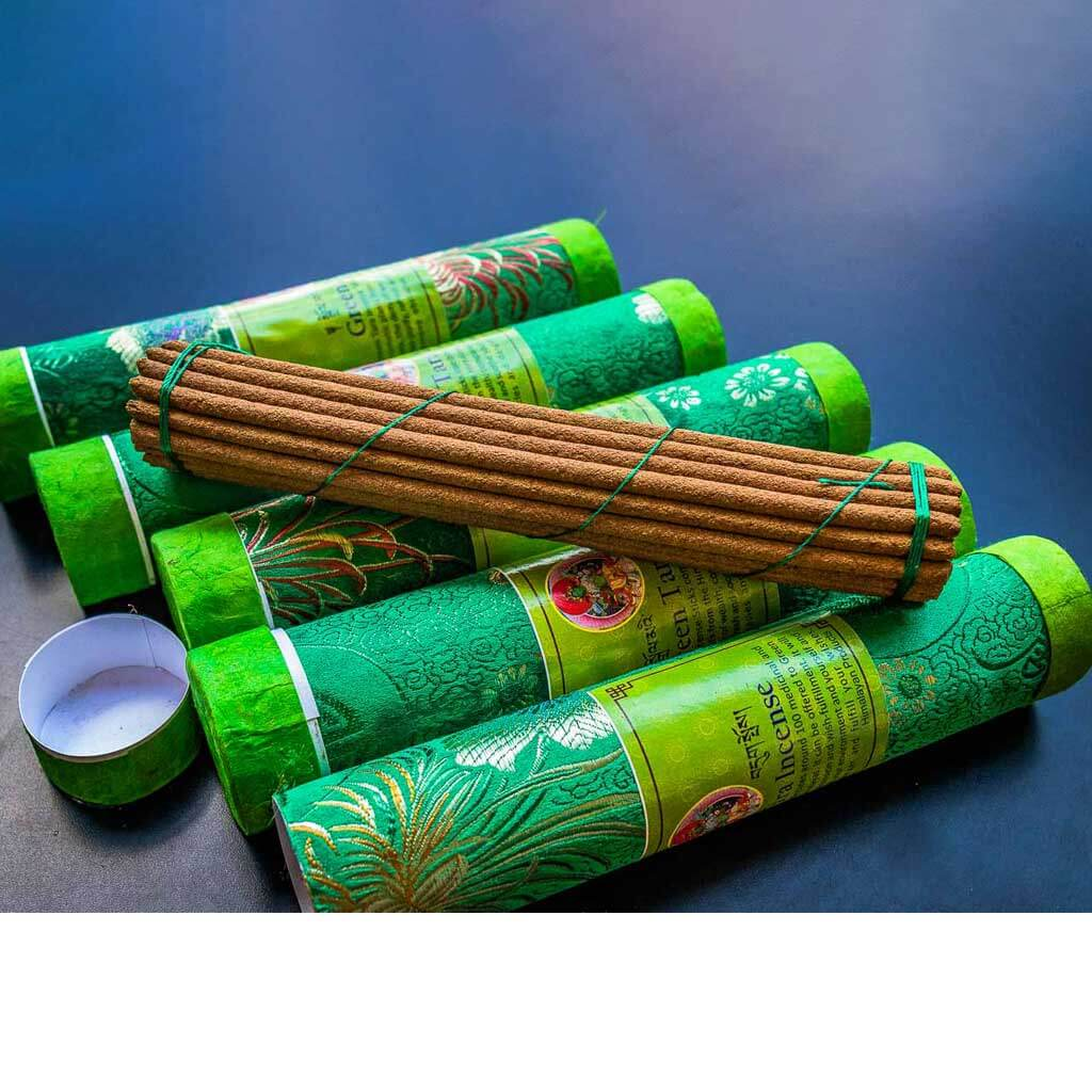 Green Tara Incense - organic incense - non toxic incense -non-addictive -handmade incense - eco friendly incense - himalayan incense - incense made from herbs - incense for meditation - incense for healing
