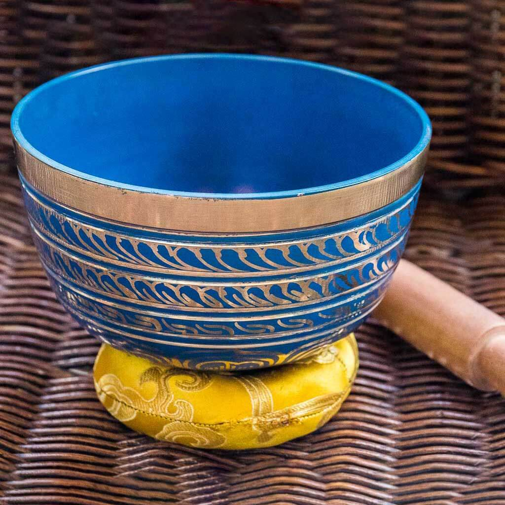 Throat Chakra Painted Singing Bowl