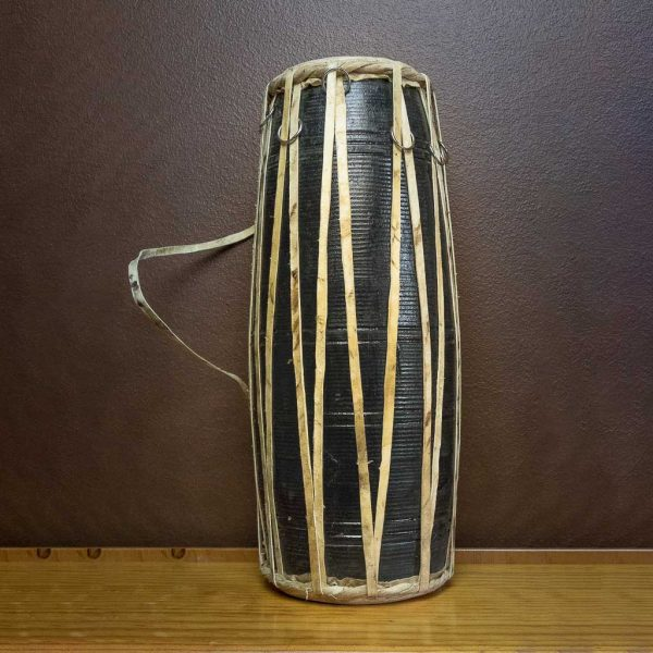 17-inch-madal-nepalese-drum-black - nepalese drum - napali traditional musical instrument -musical instrument - maadal - madal - thamelshop - decor items - handmade musical instrument - folk musical instrument