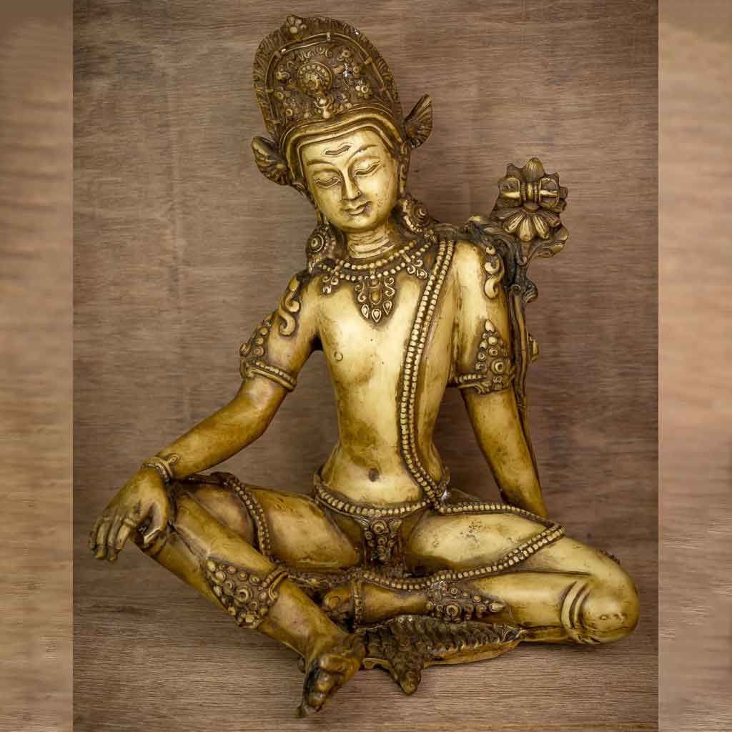 Ivory Indra Statue - god indra - king of god - king of heaven - raja indra - thamelshop - spritual items - spritual statues