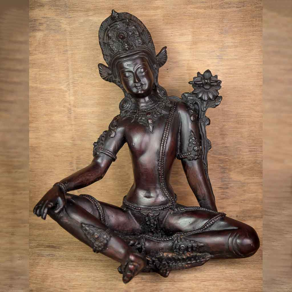 Indra Statue Black - god indra - king of god - king of heaven - raja indra - thamelshop - spritual items - spritual statues