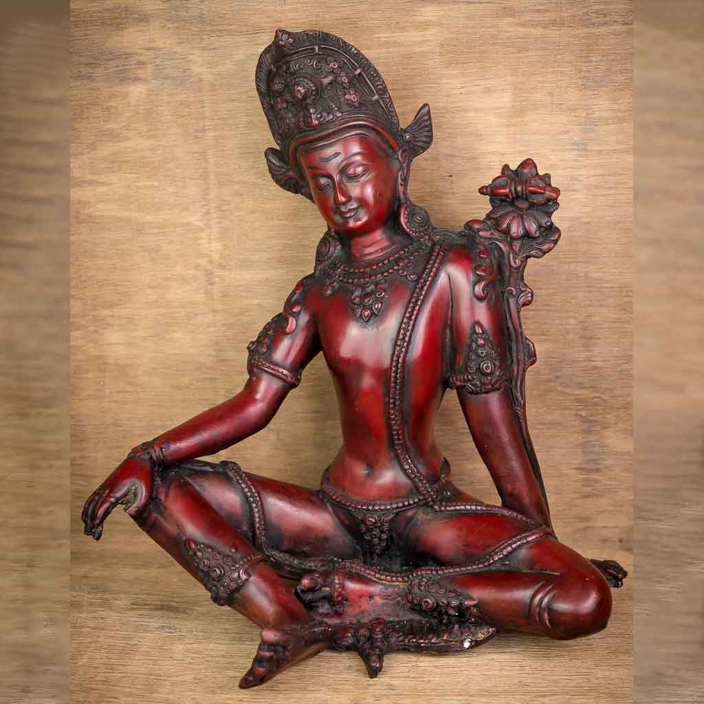 Indra Statue Red - god indra - king of god - king of heaven - raja indra - thamelshop - spritual items - spritual statues