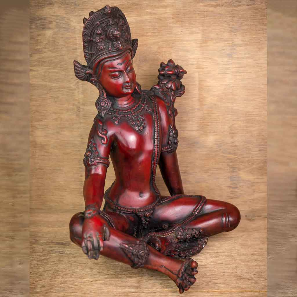 Indra Statue Red