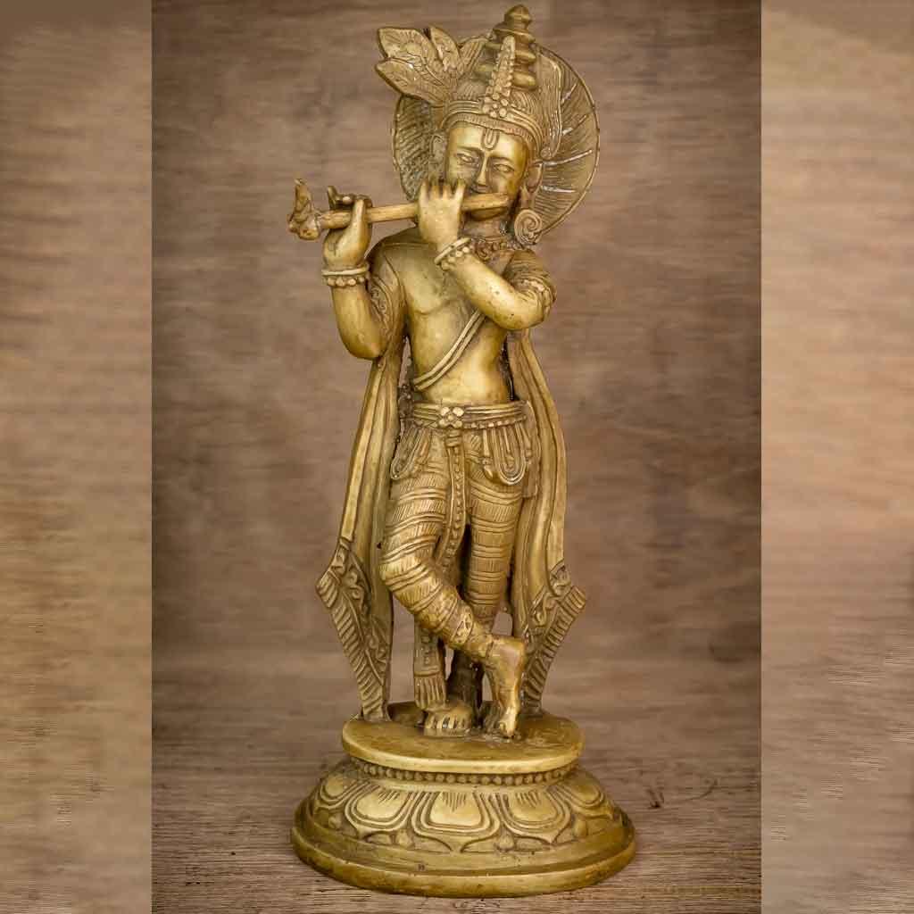 Krishna Statue Ivory