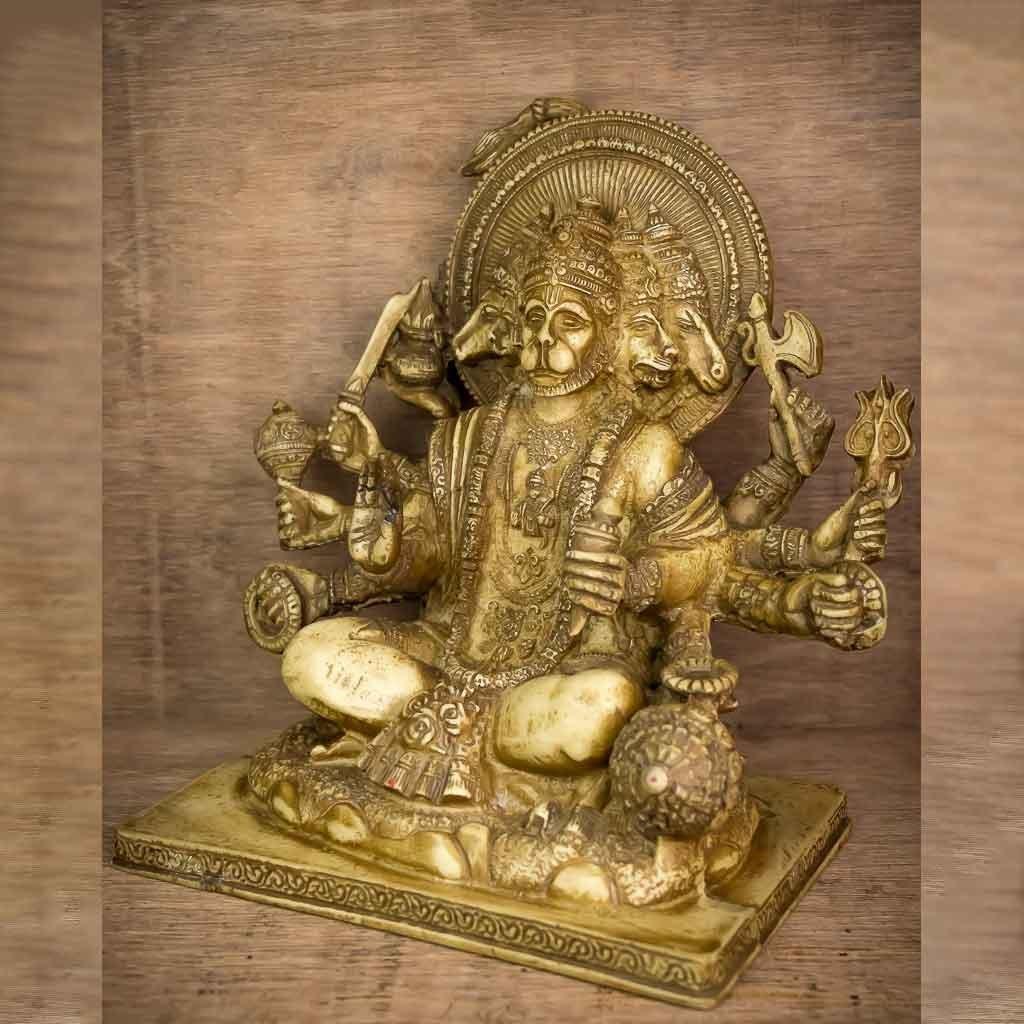 5 Faced Hanuman Statue
