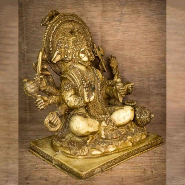 5 Faced Ivory Hanuman Statue