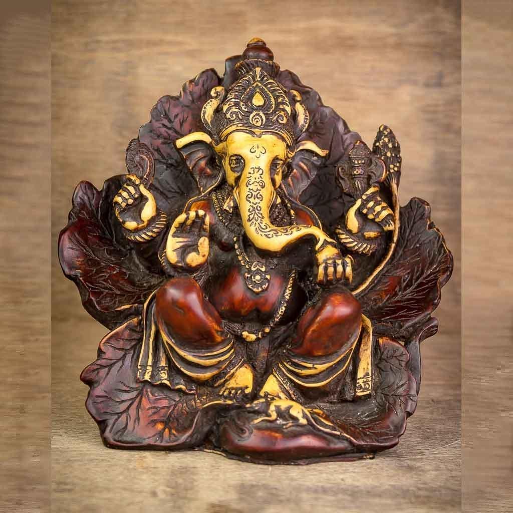 Leaf Wing Ganesh Statue