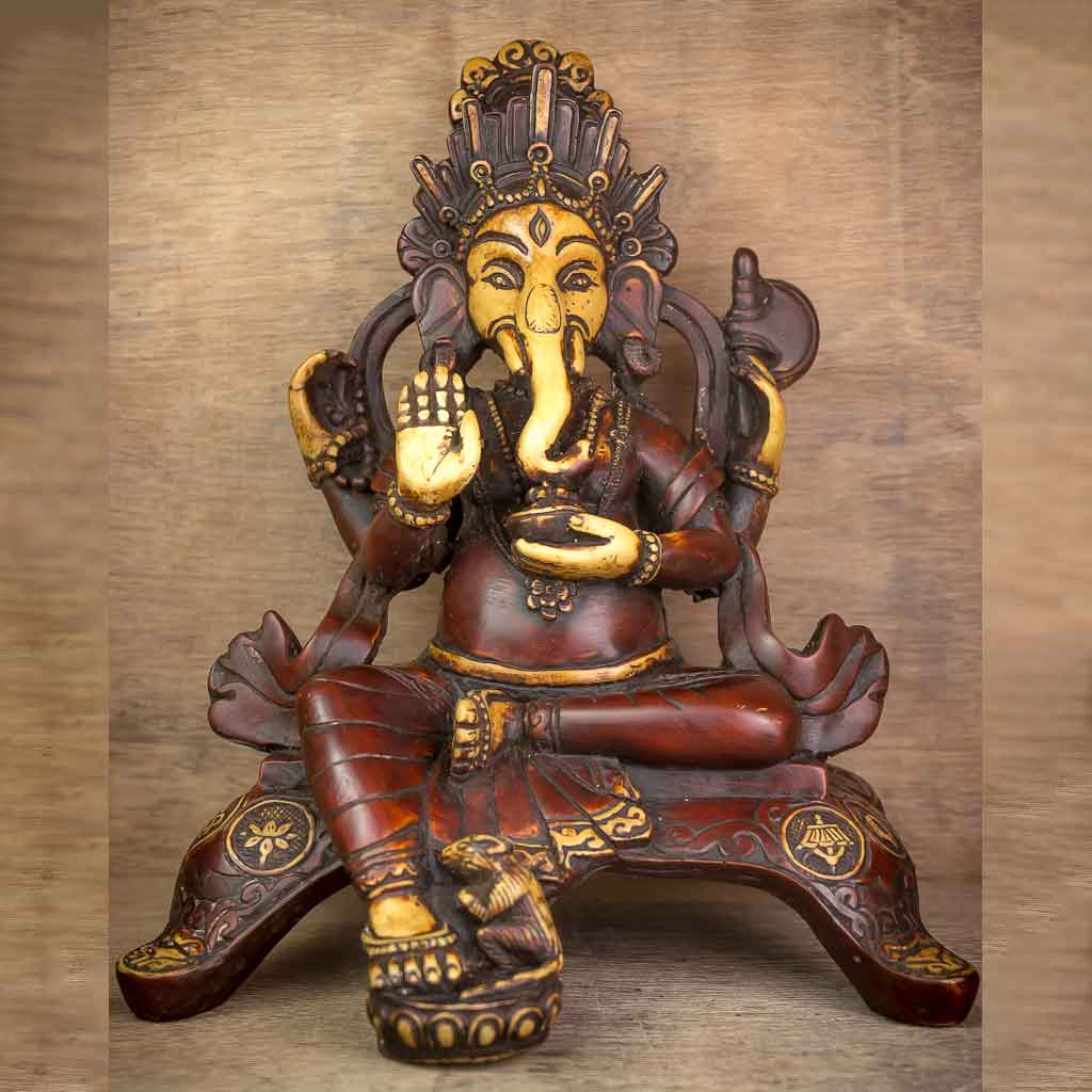 Antique Aashirvaad Ganesh statue - thamelshop - ganesh statue- antique ganesha statue - lord ganesh - best statue - spritual items