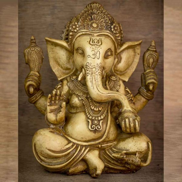 Ivory Crown Ganesh Statue