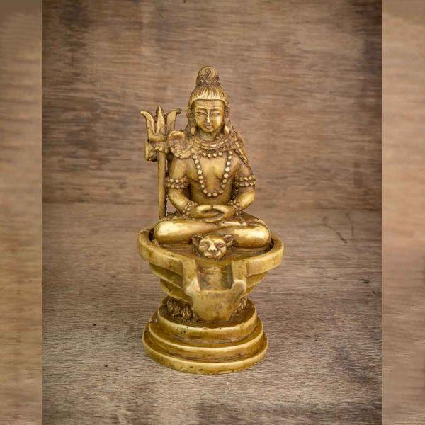 Small Mandala Shiva Statue - shiva statue- lord shiva- mandala shiva statue- nataraja- shiva on shiva statue-thamelshop - spritual items - hindu god - god of god - mahadev - parbati - ganesh - lord ganesh family - antique shiva statue