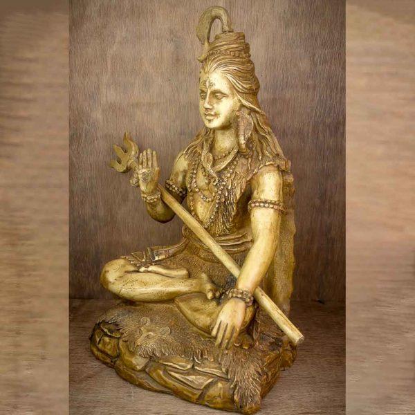36 cm Ivory Lord Shiva Statue