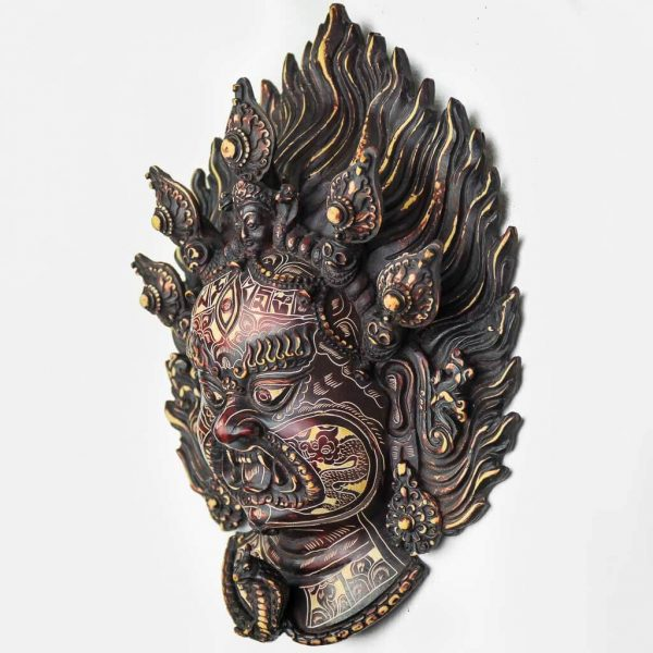 Bhairav Wall Hanging Natural Carving