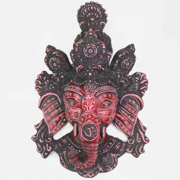 Small Ganesh Wall Hanging -thamelshop-ganesh statue-antique ganesha statue -lord ganesh-wall hanging ganesh statue-decor items- wall decor items-ganesha wall hanging-ganesh statue red- red wall hanging ganesha-natural ganesha- natural carving ganesha statue-natural carving ganesha wall hanging-Natural Carving