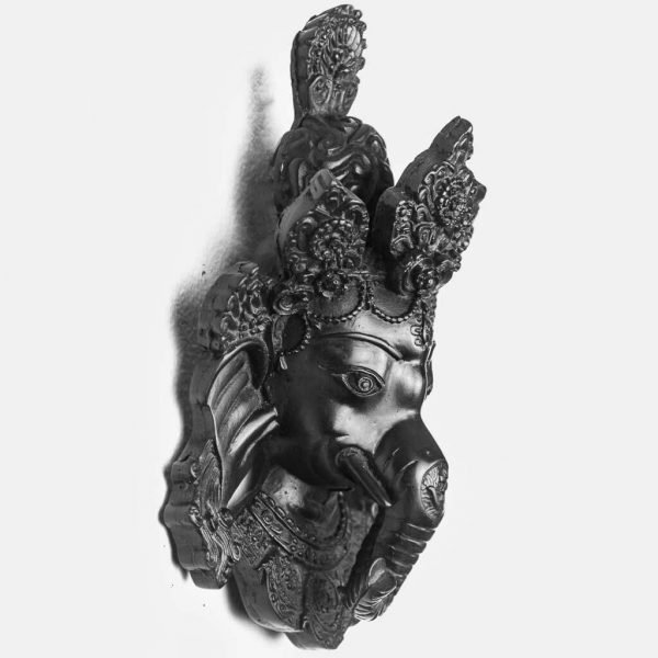 Small Ganesh Wall Hanging Black