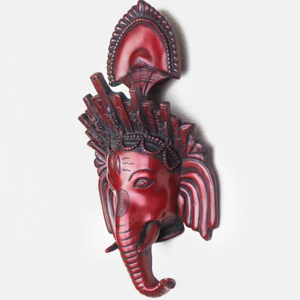 Trunk Ganesh Wall Hanging Red