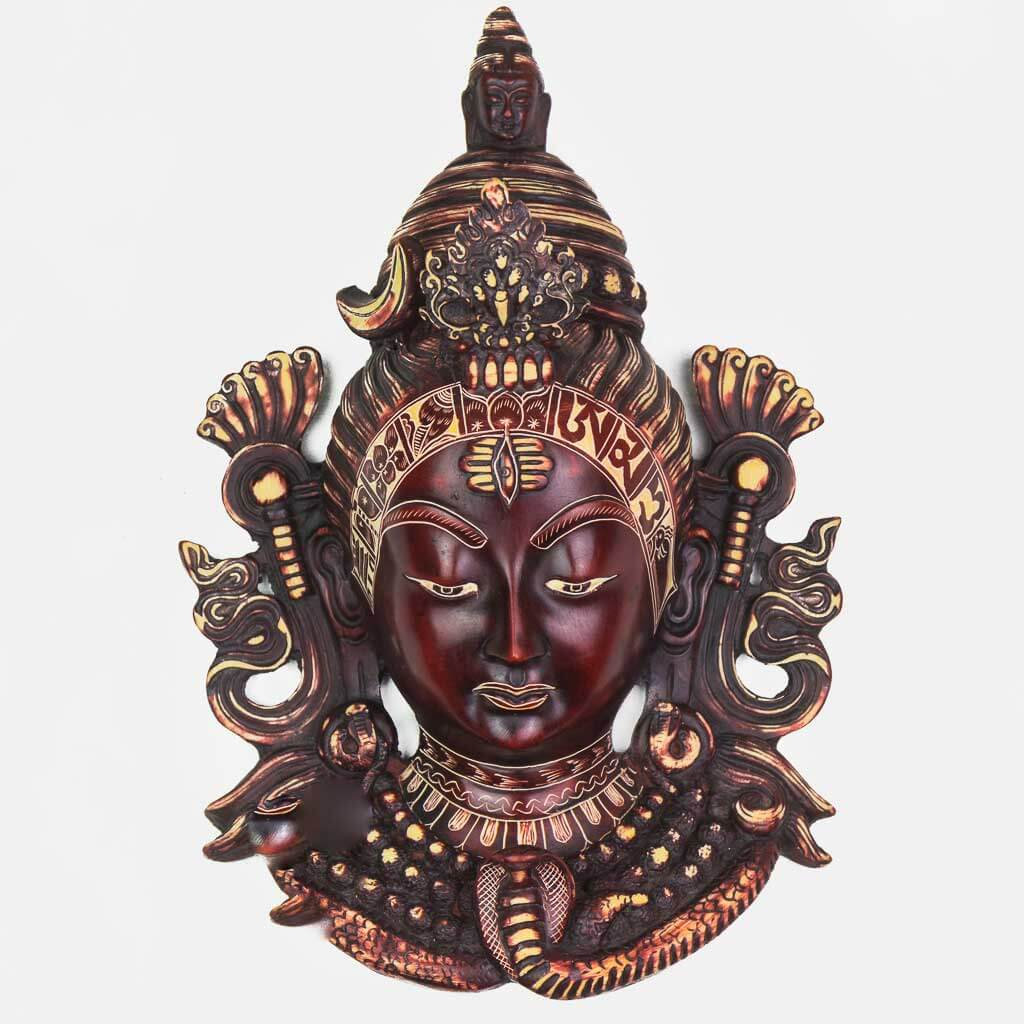 Shiva Wall Hanging Natural Carving