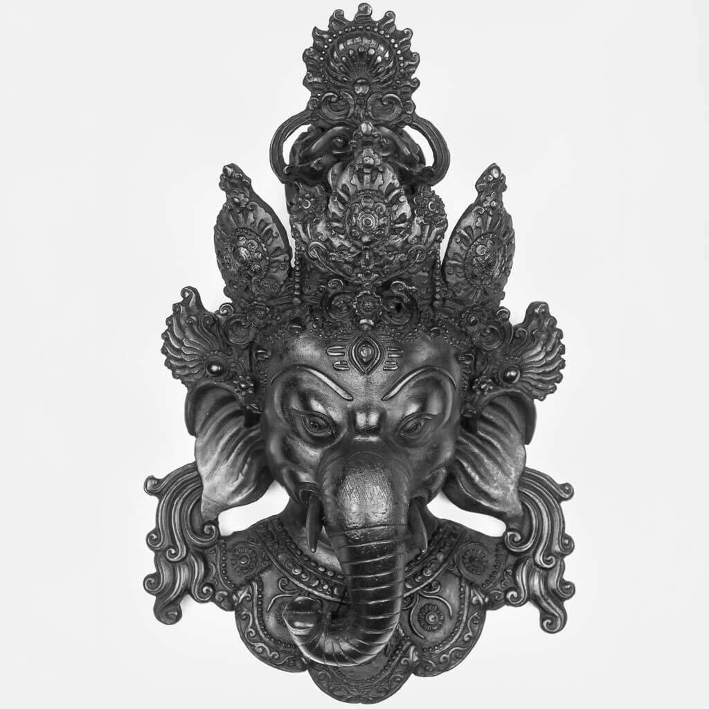 40 cm Ganesh Wall Hanging Black