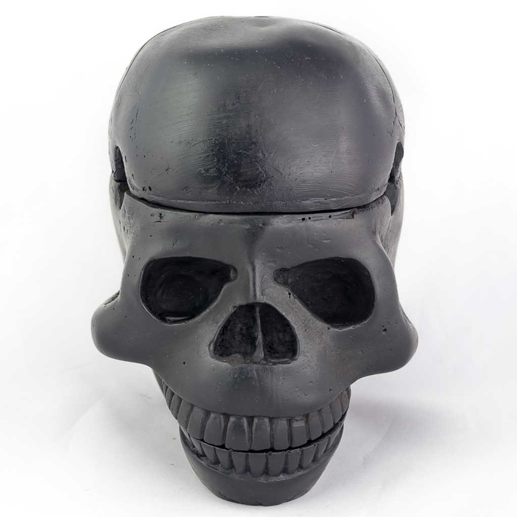 3 Piece Trinket Box Ashtray Black-black ashtray - black skull ashtray- cool skull ashtray - cool ashtray