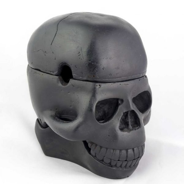 3 Piece Trinket Box Ashtray Black