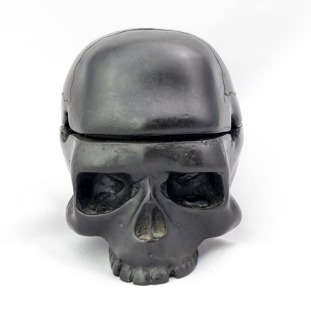 2 Piece Trinket Box Ashtray Black- black ashtray - black skull ashtray- cool skull ashtray - cool ashtray