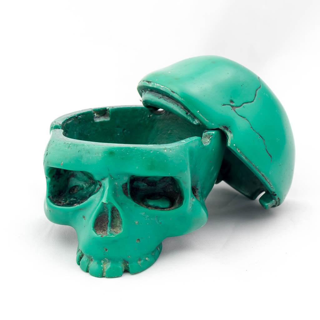 2 Piece Trinket Box Ashtray Green