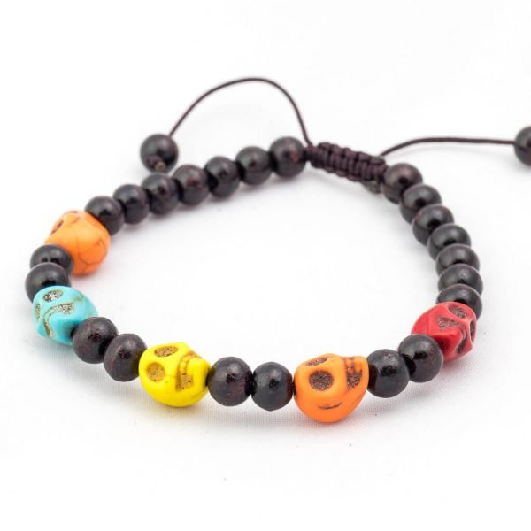 Five Skulls Wrist Mala-thamelshop-mens beaded jewelry-tibetan mala shop-tibetan mala bracelets-how to make a wrist mala-wrist beads for guys-wrist mala-bodhi seed wrist mala-impermanence mala-dragons blood mala-japanese wrist mala-mens sandalwood bracelet-adjustable mala beads