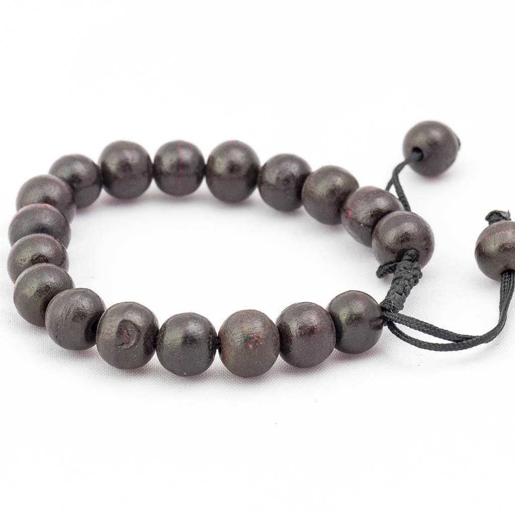 Dark Brown Wooden Wrist Mala