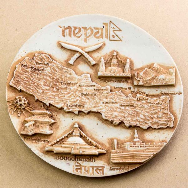 Beauty of Nepal Wall Decor Plate - thamelshop - spritual item- wall hanging - decor items - wall decor items - beauy of nepal- beauty of nepal wall hanging items