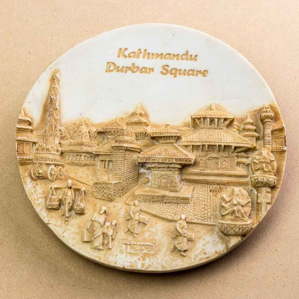 Kathmandu Durbar Square Wall Decor Plate - thamelshop - spritual item- wall hanging - decor items - wall decor items - beauy of nepal- beauty of nepal wall hanging items -kathmandu nepal wall hanging - kathmandu durbar square - kathmandu nepal