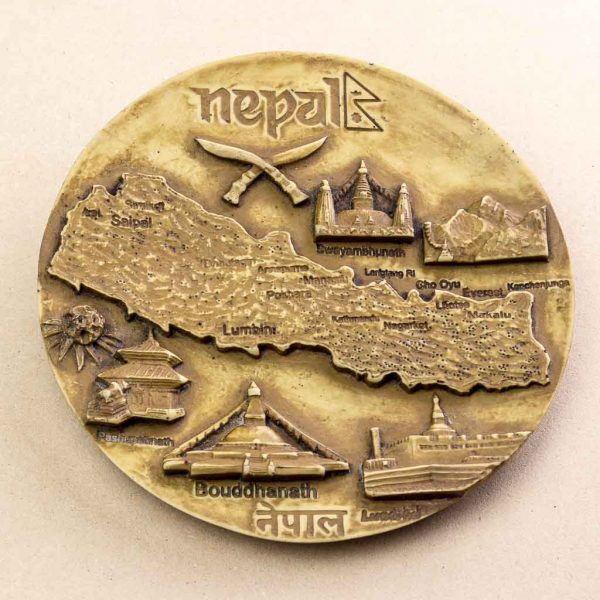 Beauty of Nepal Wall Decor Plate