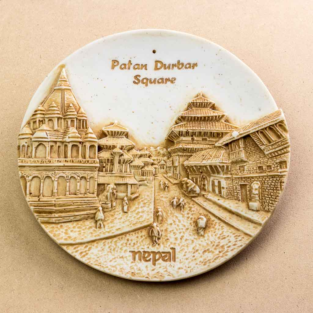 Patan Durbar Square Wall Decor Plate - thamelshop - spritual item- wall hanging - decor items - wall decor items - beauy of nepal- beauty of nepal wall hanging items -patan nepal -patan durbar square - patan nepal
