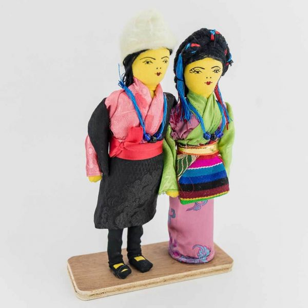 traditional sherpa couple
