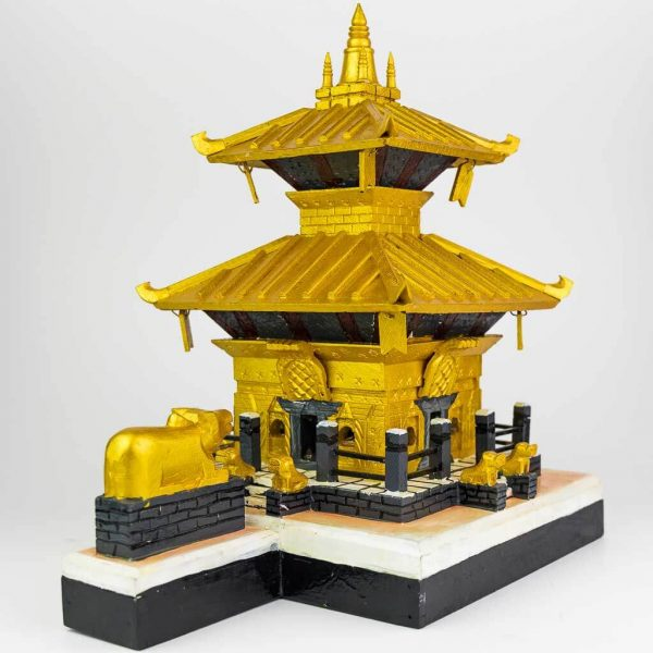 Gold Color Painted Pashupatinath Temple