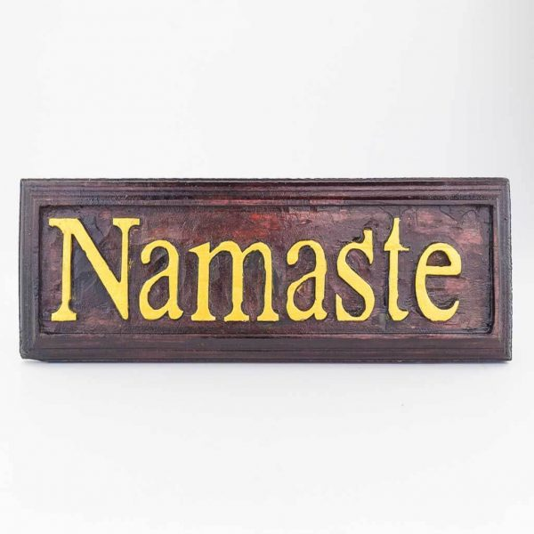 Namaste Welcome Board - thamelshop- decor items -wooden decor items-wooden crafts- handicrafts- handicrafts australia - welcome board - namaste board - decorative namaste board-decorative welcome board - wooden namaste board - wooden welcome board - wooden namaste