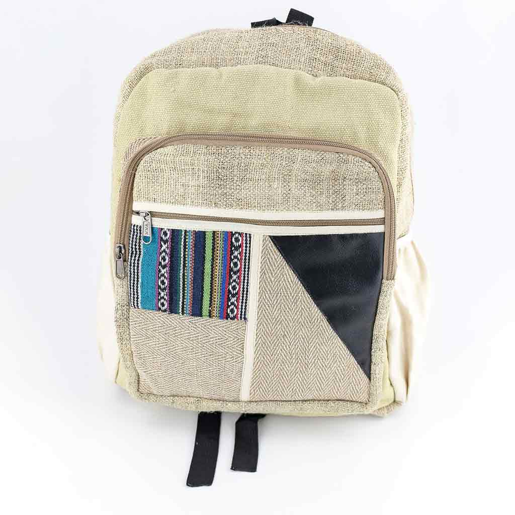 Hemp Backpack - HB75005-thamel-shop-cheap-best-hippie-clothing-nepal-australia