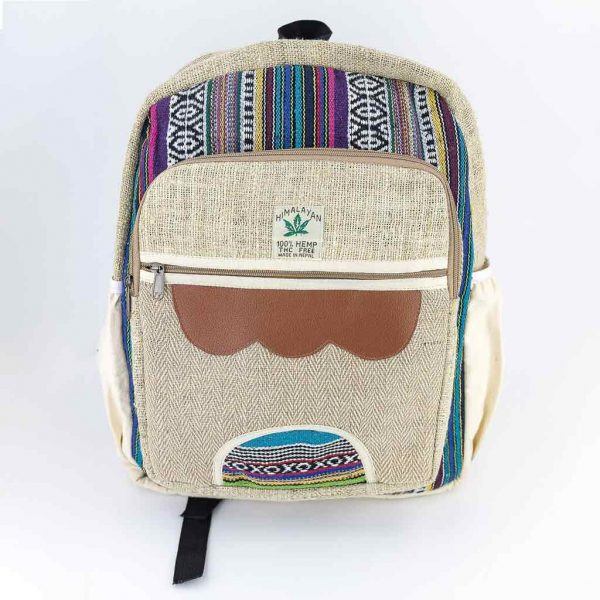 Hemp Backpack - HB75006-thamel-shop-cheap-best-hippie-nepal-clothing-australia