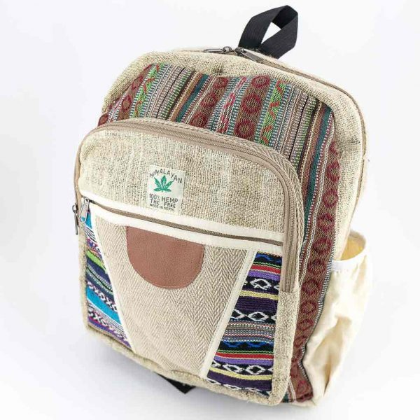 Hemp Backpack - HB75002-cheap-best-thamelshop-hippie-nepal-clothing-australia