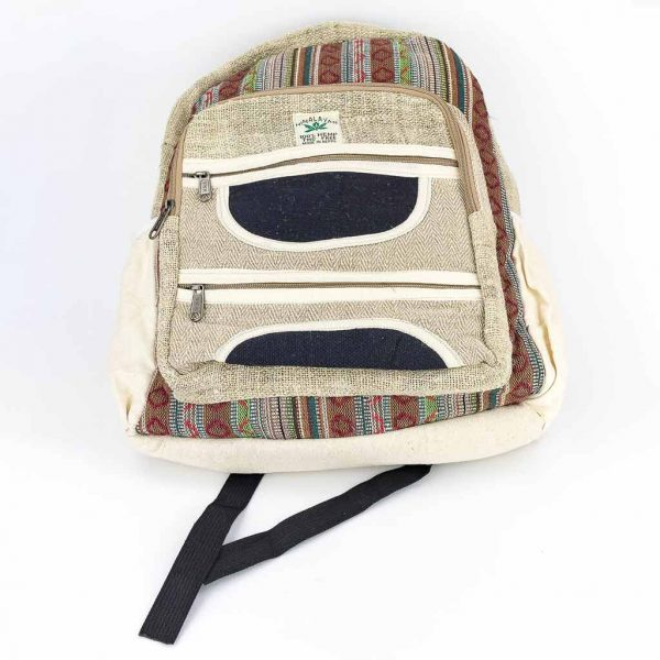 Hemp Backpack - HB75009-thamel-shop-cheap-best-hippie-nepal-clothing-australia