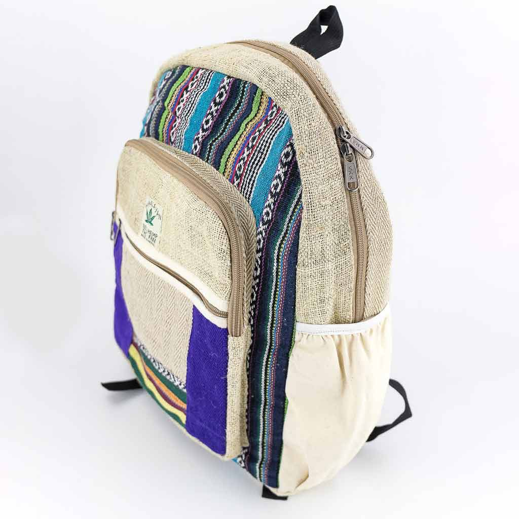 Hemp Backpack - HB75010-cheap-best-hippie-nepal-clothing-australia-thamel-shop