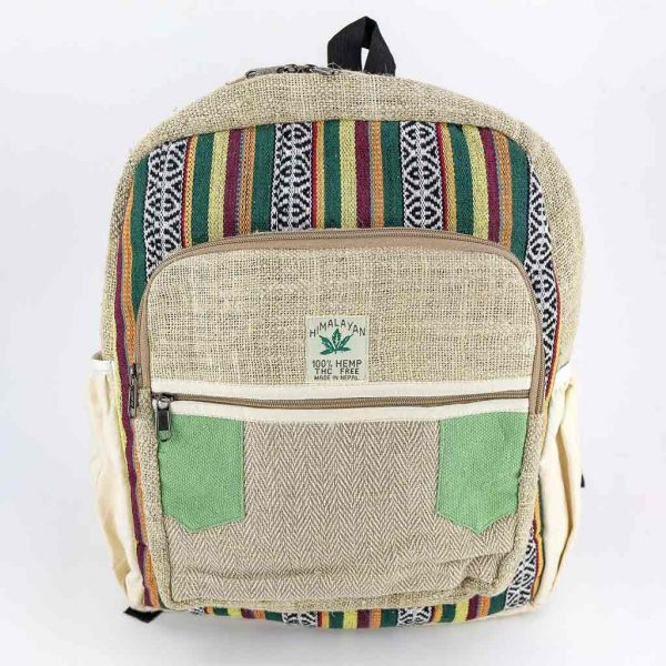 Hemp Backpack - HB75012-cheap-best-hippie-nepal-clothing-australia