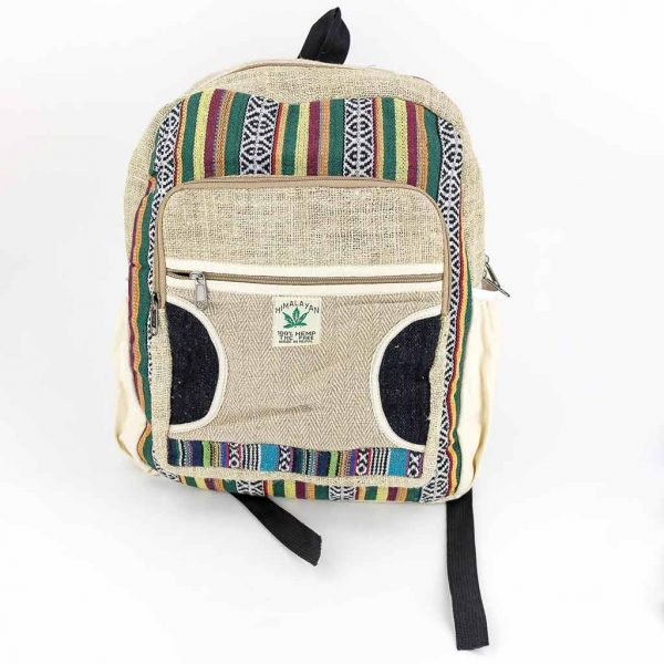 Hemp Backpack - HB75016-cheap-best-thamel-shop-hippie-clothing-nepal-australia
