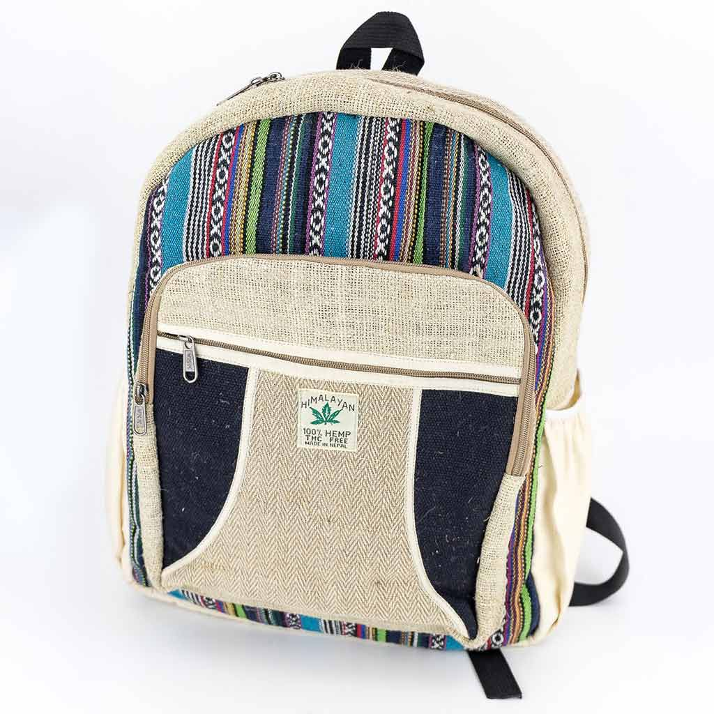 Hemp Backpack - HB75021-unisex-thamelshop-hippie-eco