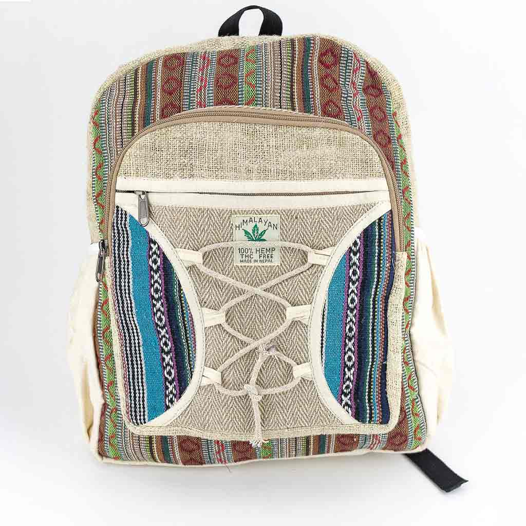 Hemp Backpack - HB75003-cheap-best-thamelshop-hippie-clothing-nepal-australia