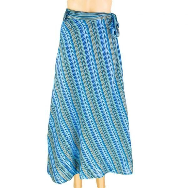 Cotton Wrapper Skirt - Turquoise | Thamel Shop