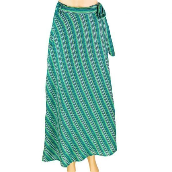 Cotton Wrapper Skirt - Sea Green