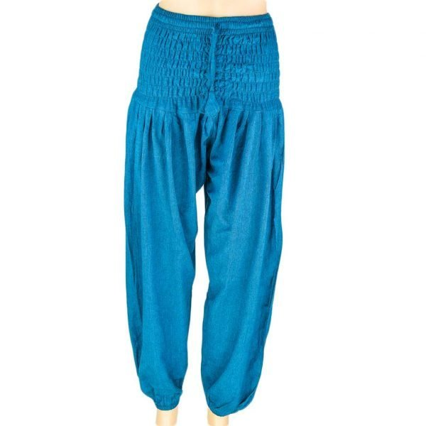 thamel-shop-plain-harem-pant-women-turquoise-best-hippie-clothing-nepal